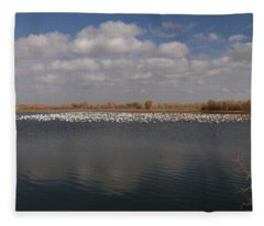 A Flock Of Birds Fleece Blanket