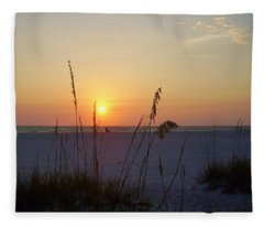 A Florida Sunset Fleece Blanket