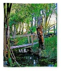 A Forgotten Delta Dock Fleece Blanket