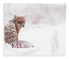 A Red Fox Fantasy Fleece Blanket