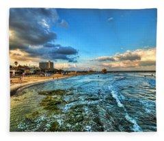 a good morning from Hilton's beach Fleece Blanket