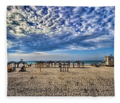 a good morning from Jerusalem beach  Fleece Blanket