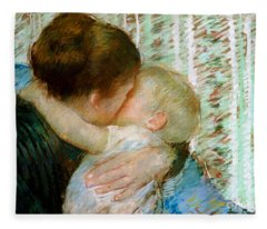 Mother Mary Paintings Fleece Blankets