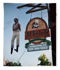 A Hanged Man In Jamestown Fleece Blanket