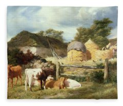 A Highland Croft, 1873 Fleece Blanket