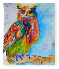 A Hootiful Moment In Time Fleece Blanket