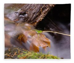 A Leaf Captured Fleece Blanket
