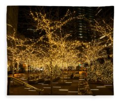 A Little Golden Garden In The Heart Of Manhattan New York City Fleece Blanket