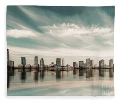 a look to New Jersey  Fleece Blanket