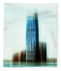 A Look To New Jersey II - Steel Fleece Blanket