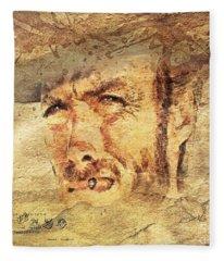 A Man With No Name Fleece Blanket