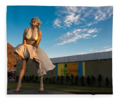 A Marilyn Morning Fleece Blanket