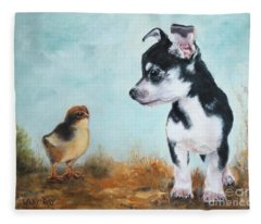 A New Acquaintance Fleece Blanket
