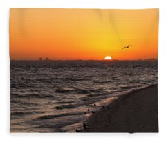 A New Day - Sanibel Island Fleece Blanket