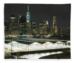 A New York City Night Fleece Blanket