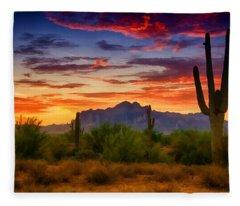 A Painted Desert  Fleece Blanket