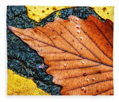 A Parking Space For Autumn Leaf Fleece Blanket