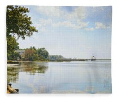 A Perfect Currituck Day Fleece Blanket