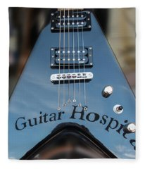 A Place For Sick Guitars Fleece Blanket