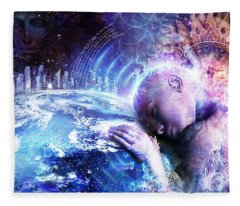 A Prayer For The Earth Fleece Blanket