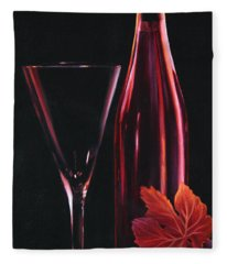 Fleece Blanket featuring the painting A Prelude To Romance by Sandi Whetzel