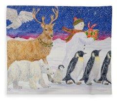 A Present For Santa  Fleece Blanket