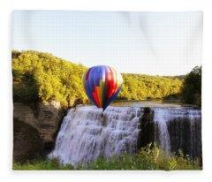 A Ride Over The Falls Fleece Blanket