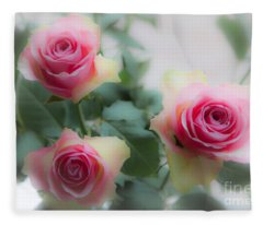 A Rose And A Rose And A Rose Fleece Blanket