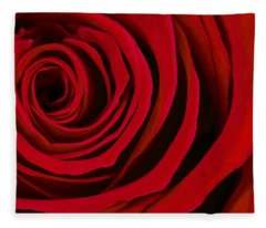 A Rose For Valentine's Day Fleece Blanket