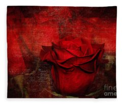 A Rose For You Fleece Blanket