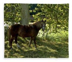Horse Heaven A Shady Spot Fleece Blanket