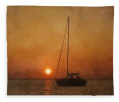 A Ship In The Night Fleece Blanket