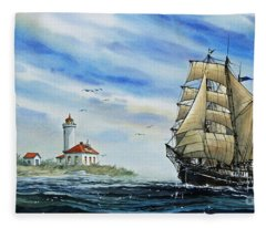 A Ship There Is Fleece Blanket