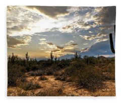 A Sonoran Desert Sunset  Fleece Blanket