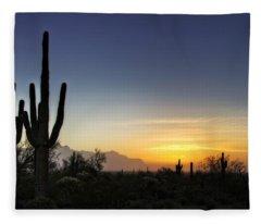 A Sonoran Sunrise  Fleece Blanket