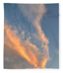 A Splash Of Peach Fleece Blanket