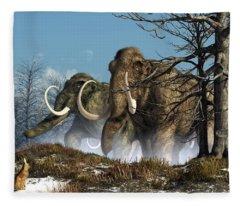 A Storm Of Mammoths  Fleece Blanket