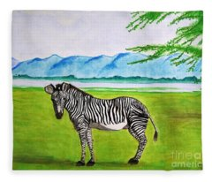 A Striped Chap Fleece Blanket
