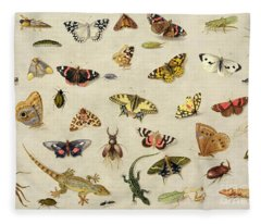 A Study Of Insects Fleece Blanket