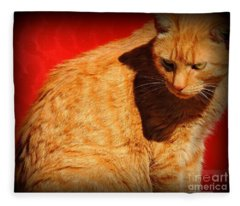 A Study Of Red And Orange Fleece Blanket