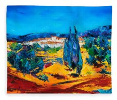 A Sunny Day In Provence Fleece Blanket