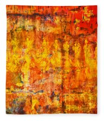 A Sunset Of Angels Fleece Blanket