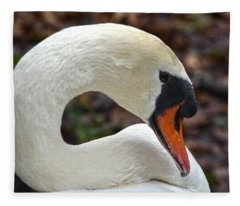 A Swan's Elegance Fleece Blanket