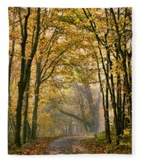 A Touch Of Gold Fleece Blanket