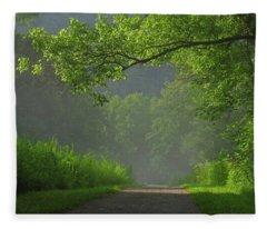 A Touch Of Green Fleece Blanket