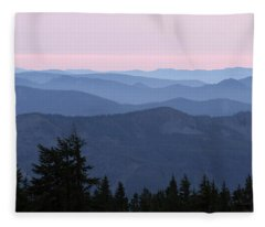 A View From Timberline Fleece Blanket