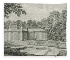 A View Of The Aviary And Flower Garden At Kew Fleece Blanket