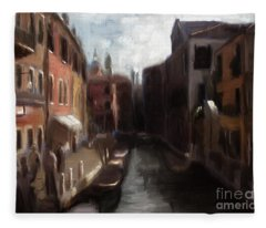 A View Of Venice Fleece Blanket