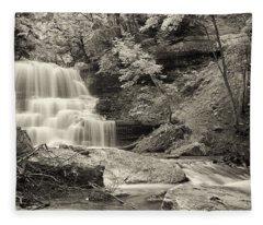 A Vintage View Of Decew Falls Fleece Blanket