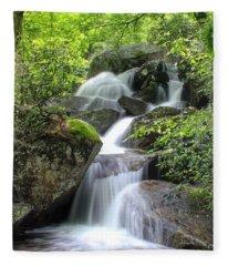 A Walk Along The Jacob Fork Fleece Blanket